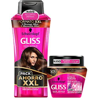 Gliss Sliss 2 Champús 400 ml + Mascarilla Lang & Sublime