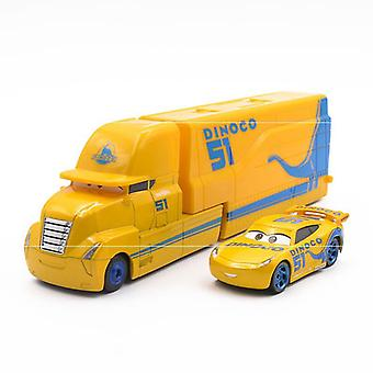 2pcs/lot Cruz Ramirez Cars Trailer Racing Car Toy Model