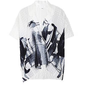Crea Concept Ylisized Abstrakti Print Shirt