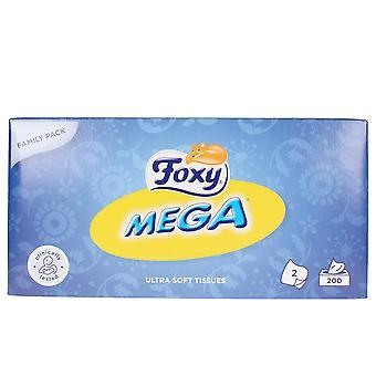 Foxy Facial Mega Pañuelos 200 Uds Unisex