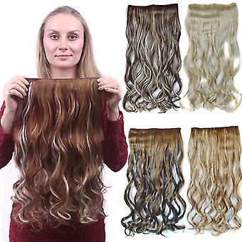 ヨーロッパスタイルショートと長い女性の自然な現実的なかつらファッション合成ウィッグ偽の髪