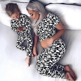 Kevään perhe vastaava äiti tytär poika vaatteet, pyjama puvut