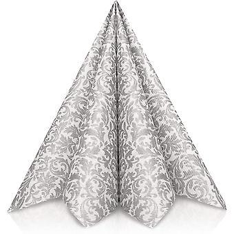 Wokex Servietten Silber | Stoffhnlich [50 stuck] | Hochwertige Silberne Servietten, Tischdekoration