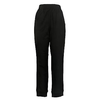 Denim & Co. Women's Pants Active Regular Pull-On Knit Jogger Black A300833