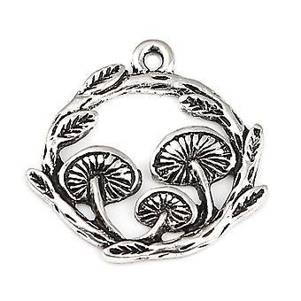Doreenbeads Charms, Metal Mushroom Pendants, Antqiue Necklace, Earrings Charm,