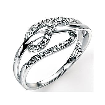 9 CT White Gold 0.12 Carat Diamond Ring