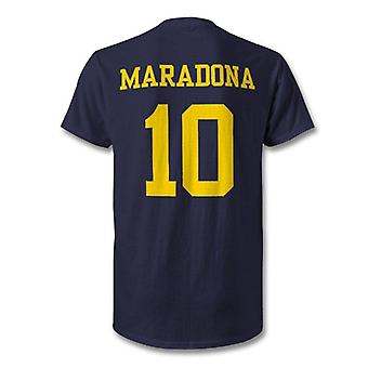 Diego maradona boca juniors legende held t-shirt
