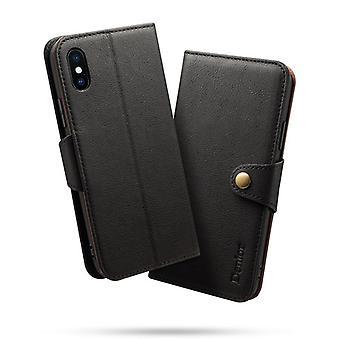 Aito nahkainen lompakkokotelokorttipaikka iphonelle7/8 musta pc3809