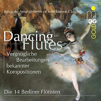 14 Berlin Flutes - Dancing Flutes: Amusing Arrangements of Well-Known Classics [CD] USA import
