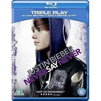 Justin Bieber Never Say Never Blu-ray & DVD & Digital Copy