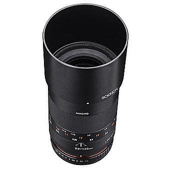 Rokinon 100mm f2.8 ed umc full frame telephoto macro lens for sony e-mount in...
