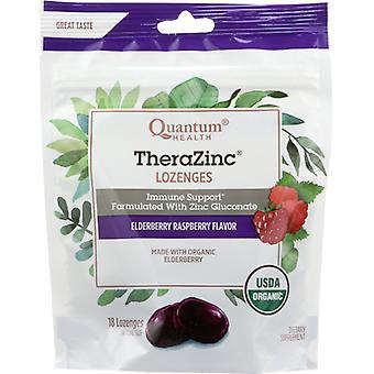 Quantum Health TheraZinc Organic Bagged Lozenges, Elderberry and Raspberry 18 Count