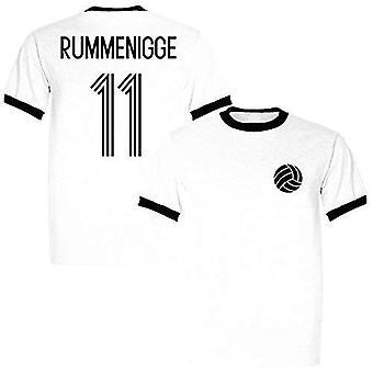 Imperio deportivo karl-heinz rummenigge 11 alemania leyenda ringer retro camiseta blanca/negra - xx-grande