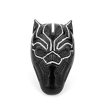 Black Panther Anime Ring Superhero Alloy Finger Ring For Cosplay Black
