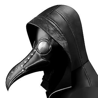 Pest Arzt Vogel Maske Halloween Cosplay schwarz lange Nase Schnabel Steampunk Vogel Masken