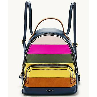 Fossil Felicity Mini Backpack Navy Blue Brown SHB2449997 Shoulder Bag