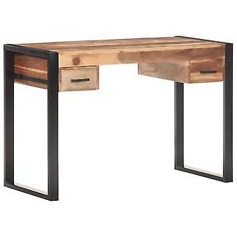 vidaXL skrivebord 110x50x76 cm massivt træ med palisander finish