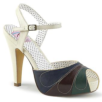 Pin Women's Shoes Up Cream Multi Faux Leather