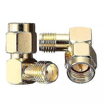 5pcs DANIU SMA man naar SMA vrouwelijke jack haakse krimp RF adapter connector
