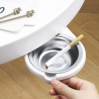 Indoor Hidden Sticky Table Bottom Rotating Ashtray Detachable And Easy To Clean Stainless