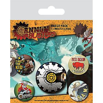 Cannon Busters Voll beladenes Abzeichen-Set