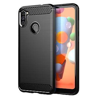 Fodral för Samsung Galaxy A11 Flexibel Ultra Slim TPU Silikon telefonväska bakre omslag stötfångare