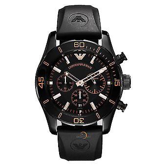 Emporio Armani AR5946 Black & Gold Chronograph Dial Sportivo Watch