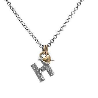 Bokstav H Första hänge Halsband