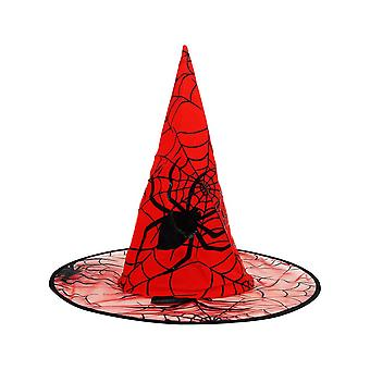 Halloween Witch Hat, Spider Web Yarn Wizard Hat, Holiday Party Role-playing Props