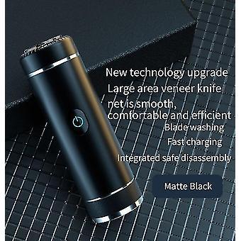 Elektrisk barbermaskine Bærbar genopladelig barbermaskine(sort)