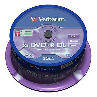 Verbatim DVD+R DL, 8x, 8,56GB/240min, 35er-Pack-Spindel, silber matt