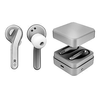 Soundz True Wireless Earbuds SZ970- Zilver met ingebouwde microfoon en oplaadcase