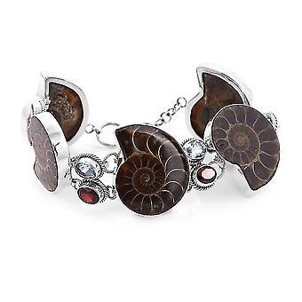 Royal Bali Multi Gemstone Designer Armband in zilver cadeau voor haar 5.5 '' 11.8ct
