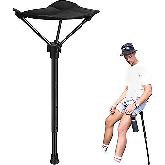Portable Stool Height Adjustable Seat Retractable Outdoor Fishing Chair With 4 Gear