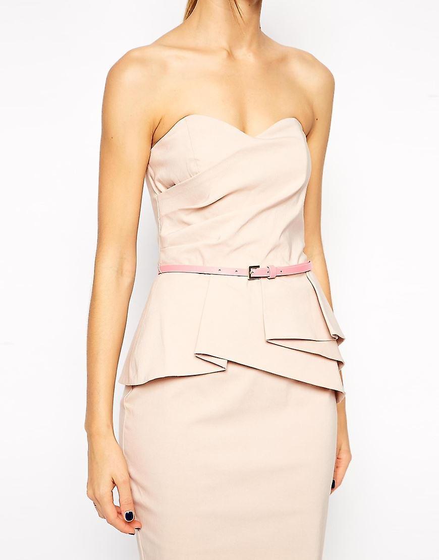 ASOS Belted Bandeau Pencil Dress UK 10