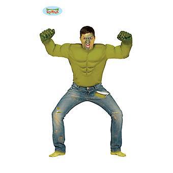 Wütender Held Superheld Kämpfer Kostüm Herrenkostüm one size