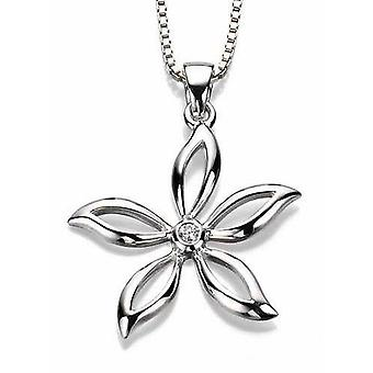 925 Silver zirconia Flower for Necklace