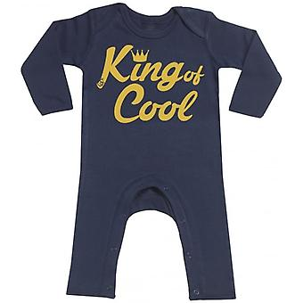 Spoilt Rotten King Of Cool Navy Baby Footless Romper