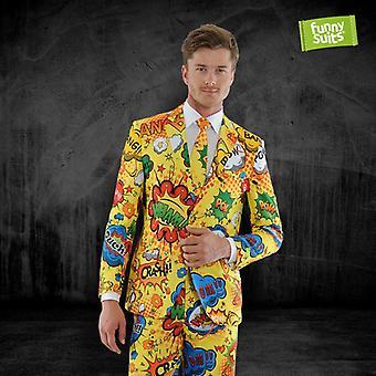 Pow Wow comic book suit Bäm Wham crash 3-piece costume deluxe EU SIZES