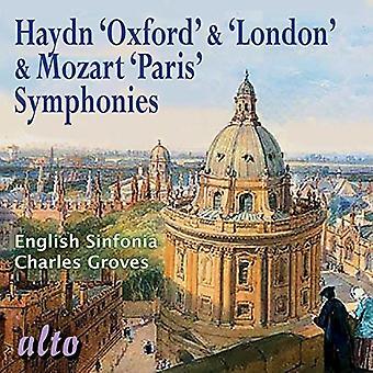 English Sinfonia Charles Groves - Haydn: Oxford & London Symphonies; Mozar [CD] USA import