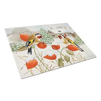 Carolines Treasures  ASA2189LCB European Goldfinches Glass Cutting Board Large