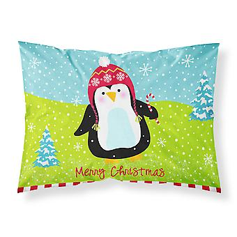 Merry Christmas Happy Penguin Fabric Standard Pillowcase
