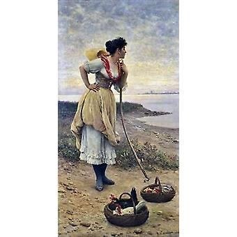 Daydreaming Poster Print by Eugene De Blaas