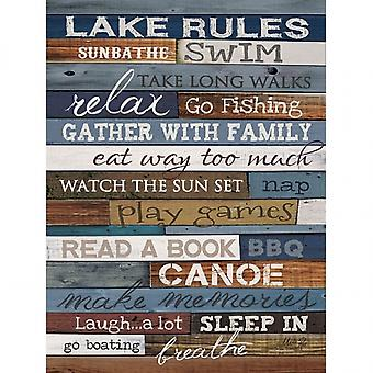 Regras do Lago Poster Print by Marla Rae (18 x 24)