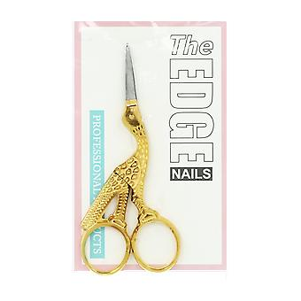 The Edge Nails Stork Scissors With Gold Plated Handles