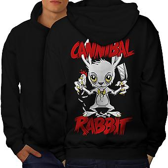 Canibal Men BlackHoodie Back | Wellcoda