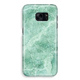 Samsung S7 Full Print Case - Green marble