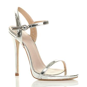 Ajvani naisten erittäin solki strappy metallinen tuskin siellä sandalit