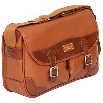 Enzo Design cuir Small Business mallette Flapover unisexe Sac Messenger