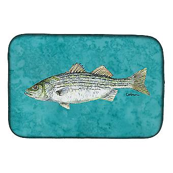 Carolines Treasures  8720DDM Striped Bass Fish Dish Drying Mat